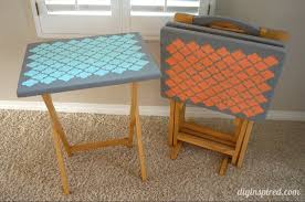 upcycled tv tray tables 2