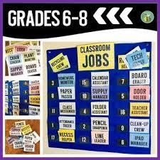 Classroom Jobs Editable Classroom Decor Classroom Jobs