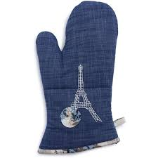 Sur La Table Blue Eiffel Tower Vintage Inspired Oven Mitt Paříž