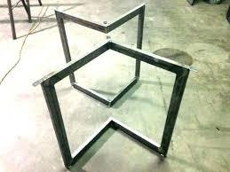 iron coffee table base round