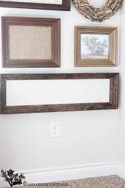 diy molding frame by the wood grain cottage