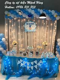 Trang trí sinh nhật bé trai Vũ Gia Bình - Dịch vụ trang trí sinh nhật tại  Hà Nội