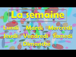 French Days Of The Week Days Of The Week In French Song