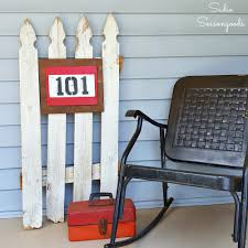 Wood Address Signs Outdoor Decor From Barn Stall to Front Door Upcycled Address Sign crafts 41