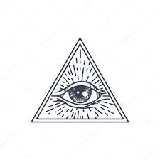 треугольник с глазом все видя глаз в треугольник векторное