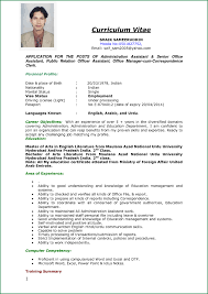 Curriculum Vitae Samples Cool Curriculum Vitae Sample Job Application48 Thankyou Curriculum