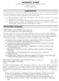 Senior Counsel Resume