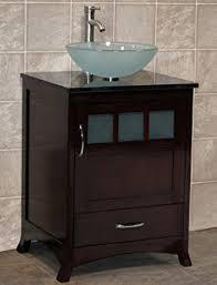 bathroom cabinets for vessel sinks. 24\u0026quot; bathroom vanity solid wood cabinet black granite top vessel sink tr9 cabinets for sinks