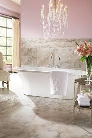 sharp pink bathroom chandelier
