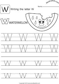 Lower Case Letter Practice Sheet Medinakids Learn Write Upper And Lower Case Letters Practice Letter W