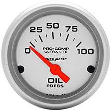 amazon com auto meter 4327 ultra lite electric oil pressure gauge this item auto meter 4327 ultra lite electric oil pressure gauge