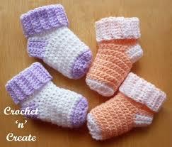 Crochet Baby Socks Pattern