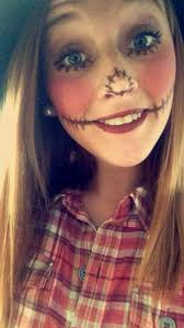 cute scarecrow makeup fall