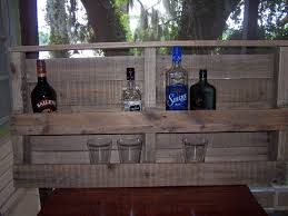 Shelves Made From Pallets Wall Hanging Liquor Bar Shelf Made From Recycled By Drucycle
