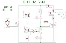 compact fluorescent lamp schema bigluz 20w