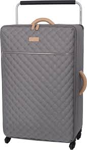 IT Luggage Tritex Quilted Large 4 Wheel Suitcase 103L Capacity ... & IT Luggage Tritex Quilted Large 4 Wheel Suitcase 103L Capacity – Grey (  Grade A ) Adamdwight.com