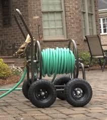 garden hose caddy. Portable Wheel Garden Hose Caddy,Steel Adjustable Water Tube Holder Reel Container \u0026 E Book Caddy