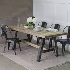 wooden dining furniture. A Game Reclaimed Wood Dining Table With Steel Frame Wooden Furniture O