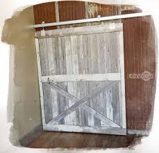 custom made reclaimed barn wood sliding barn door