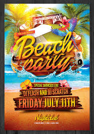 Beach Flyer Free Beach Party Flyer 24 Amazing Psd Beach Party Flyer Templates