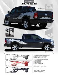 2009 2018 Dodge Ram Rage Rear Bed Truck Power Wagon Vinyl Graphic Stripe Kit