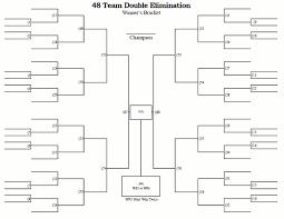 48 Team Double Elimination Printable Tournament Bracket