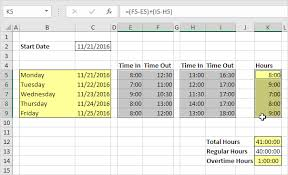 Employee Time Sheets Excel Time Sheet In Excel Easy Excel Tutorial