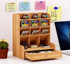 KINGFOM PU <b>Leather Office</b> Desk Organiser Tidy Pen Pencil Pots ...