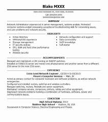 Entry Level Network Engineer Objectives Resume Objective