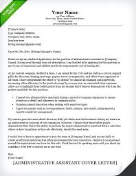 Admin Cover Letter Samples Administrative Assistant Classic Cl For