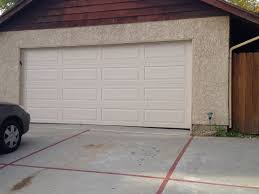 garage door t01 traditional steel almond long panel with no windows
