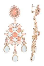 image of marchesa large drama crystal chandelier earrings