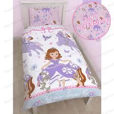 cool design disney princess double duvet cover set sofia the first bedding single junior amp kids