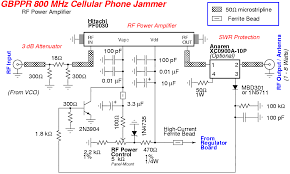 gbppr 800 mhz cellular phone jammer gbppr 800 mhz cellular phone jammer schematic 2 rf power amplifier