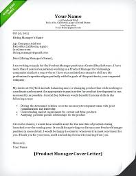 Software Project Manager Cover Letter Product Manager Cover Letter