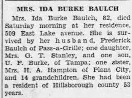 Obituary for Ida Burke BURKE (Aged 82) - Newspapers.com