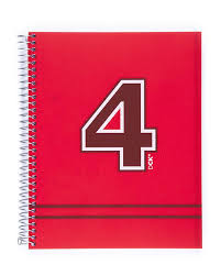 Miquelrius Fresh Spiral Bound Poly Notebook Dck Red 6 X 8 4 Subject Graph Paper 140 Sheets