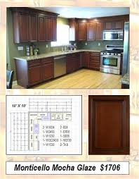 monticello mocha 1706 ready to assemble kitchen cabinets