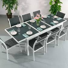 Ensemble Table à Manger Et Chaises Florence Blanc Gris Table