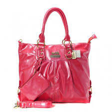 Coach In Smooth Medium Red Satchels BMB