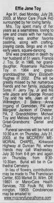 Effie Miller Toy Obituary - Newspapers.com