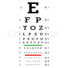 Eye Charts For Eye Exams Eye Chart Vector At Getdrawings Com Free For Personal Use