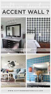 stenciled accent wall ideas from cutting edge stencils cuttingedgestencils