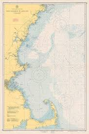 New England Nautical Charts 1951 Nautical Chart Of The New England Coastline