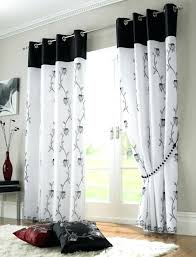 full image for white lined curtains uk tahiti lined black voile curtains white lined voile eyelet