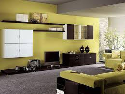 Yellow Living Room Design Brown And Green Living Rooms Contemporary Living Room Design With