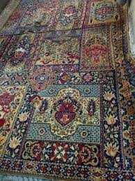 large beautiful persian rug with bright colors handmade wool size 245x380