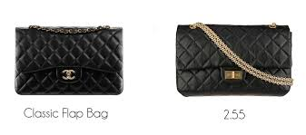 chanel 2 55. the number 2.55 represents month and year in which gabrielle\u0027s design was first introduced: february 1955. both classic flap bag chanel 2 55 l
