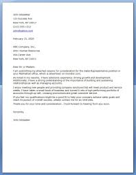 cover letter for s and marketing cover letter for s rep position template