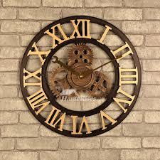 industrial wall clock gear mechanical